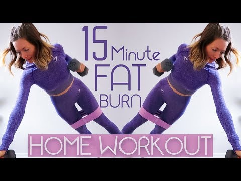 15min FAT BURNER WORKOUT  At-Home Full Body HIIT Workout