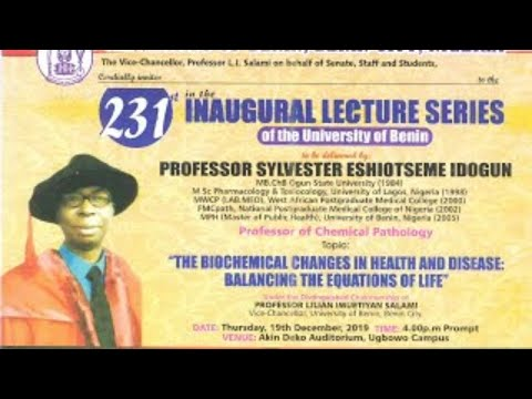 Live Event: The 231st Inaugural Lecture