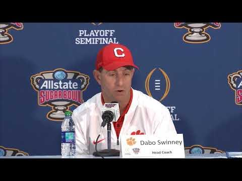 Alabama 24 Clemson 6: Dabo Swinney, Kelly Bryant, Clelin Ferrell postgame press conference (видео)