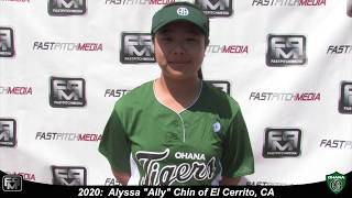 2020 Alyssa Chin Speedy Slapper 2B & Outfield Softball Skills Video