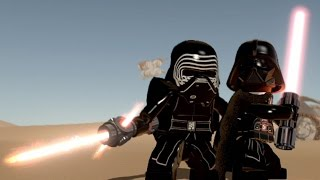 LEGO Star Wars: The Force Awakens - All Dark Lords & Dark Side Characters | Free Roam Gameplay [HD]