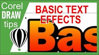 Basic text effects in CorelDraw