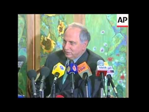 Presser by embattled Iraqi politician
