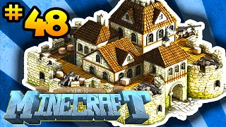 How to Minecraft: DEFENDING THE BASE! (48) - w/ Preston, Choco&Kenny!