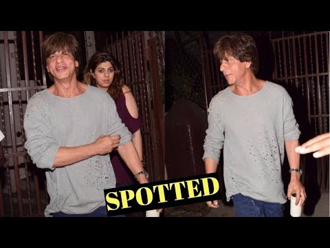 Shah Rukh Khan Spotted At Shankar Mahadevan Recording Studio