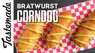 Bratwurst Corn Dog l Marcus Meacham by Tastemade