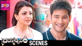Mahesh Babu Challenges Kajal Aggarwal | Brahmotsavam Telugu Movie Scenes | Samantha | Pranitha
