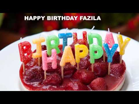 Fazila  Cakes Pasteles - Happy Birthday