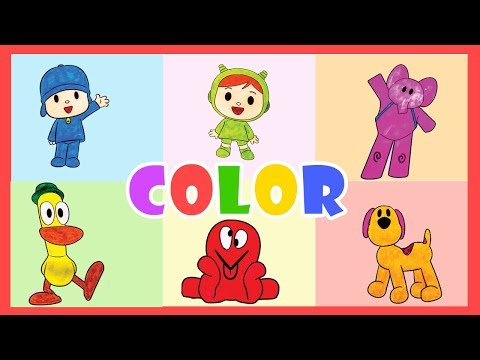 Learn Colors with POCOYO & His Friends  POCYO, NINA,ELLE,PATO, OCTOPUS,LULA