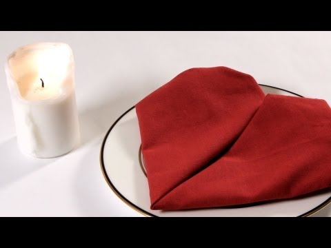 valentine napkin folding - See what you can learn on the go with the new Howcast App for iPhone and iPad: http://bit.ly/11ZmFOu Watch more How to Fold Napkins videos: http://www.howcas...