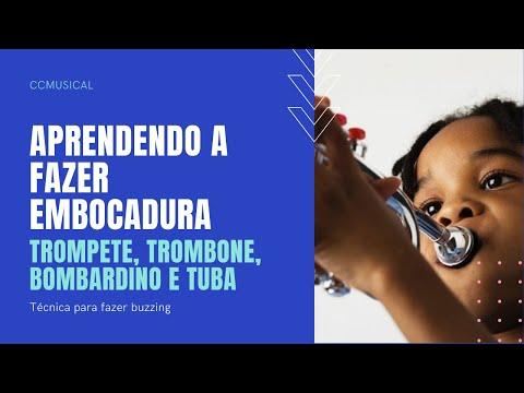 EMBOCADURA - Primeira aula sobre como tocar instrumentos de sopro como TROMPETE, TROMBONE, BOMBARDINO e TUBA. Aula de hoje: ABELHINHA (BUZZING) Curta nossa page no FACEBO...