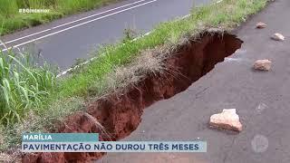 Cratera preocupa moradores do Parque da Indústria em Marília
