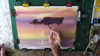 How to Paint A Watercolour Sunset