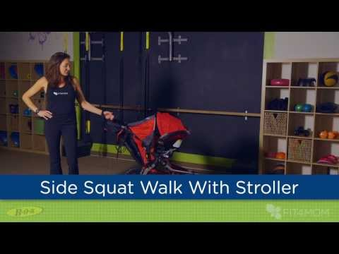 Side Squat Walk With Stroller - Stroller Strides