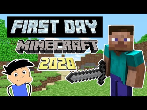 BEGINNING MY MINECRAFT JOURNEY in 2020 | FIRST DAY IN MINECRAFT GAMEPLAY #1