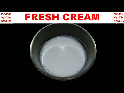 HomeMade Fresh Cream |Amul Fresh Cream Recipe | Whipped Cream Or Malai *Cook With Razia*