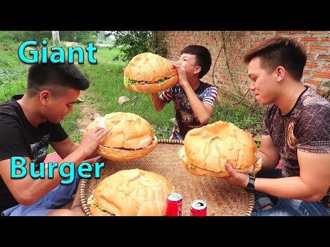 Hữu Bộ | Làm Bánh Hamburger Khổng Lồ | Giant Burger - Thời lượng: 20:30.