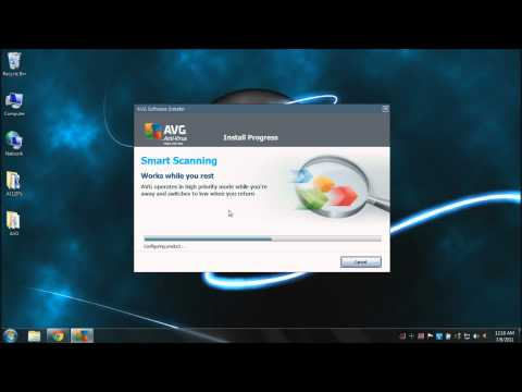 AVG Free Edition 64-bit tutorial