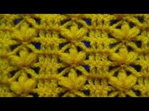 uncinetto: punto fiore in fila