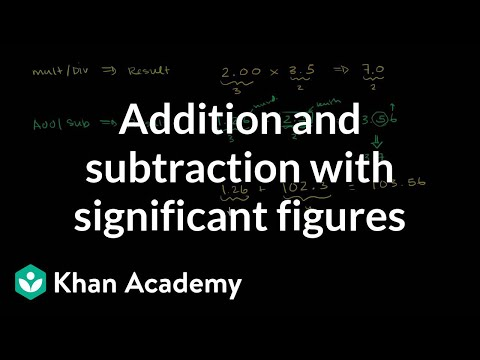 Addition and subtraction with significant figures (video)   Khan Academy