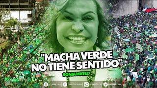"""Sonia Mateo dice """"Macha verde no tiene sentido"""""""