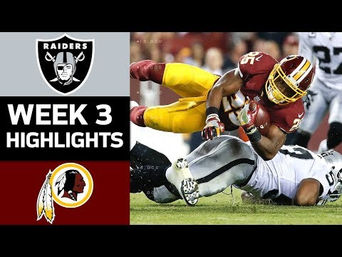 Video: Raiders vs. Redskins | NFL Week 3 Game Highlights