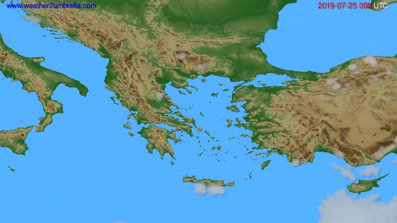 Cloud forecast Greece // modelrun: 00h UTC 2019-07-23