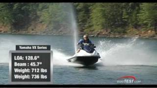 2. Yamaha VX Series 2011 PWC Performance Test - By BoatTest.com