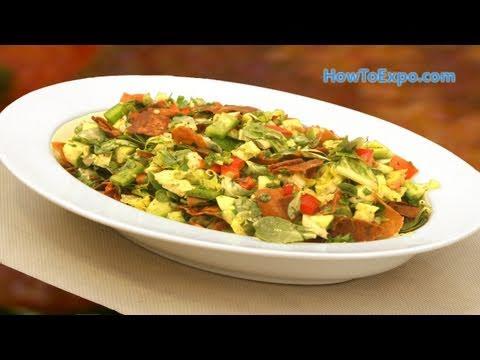 AUTHENTIC Fattoush Salad Recipe (Fattoush Recipe Video)