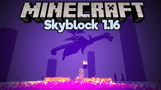 Farming Lava from the Ender Dragon! • Minecraft 1.16 Skyblock (Tutorial Let's Play) [Part 24]
