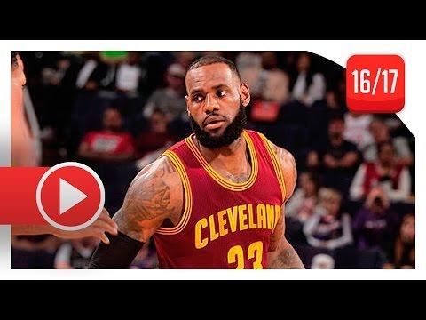 LeBron James Full Highlights vs Suns (2017.01.08) - 28 Pts, 8 Reb, CLUTCH!