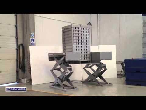 Table élévatrice à double ou triple ciseaux TEHNOCARNE