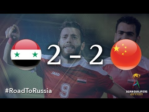 Xem lại Syria 2 - 2 Trung Quốc 13-6-2017, Highlights, VL World Cup 2015-2018