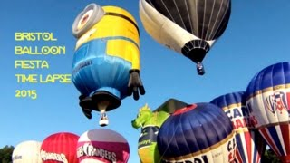 "Bristol Balloon Fiesta 2015! This is a time lapse of the beautiful hot air balloons taking off at the 6AM flight. See if you can #SpotStuart the Minion and the dragon balloon! All footage owned by me.   ""Royalty Free Music from Bensound    www.bensound.com"