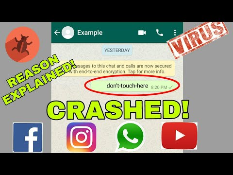 Crash Someone's Whatsapp, Instagram,FB,YT | Latest Don't-touch-here Bug/virus