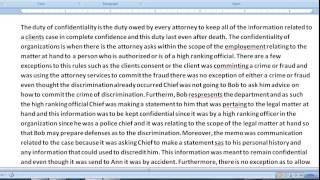 Pass The CA (California) Bar Exam - How To Write The February 2005 - Professional Responsibilty