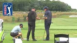 Phil Mickelson's range session for the Travelers Championship 2019 by PGA TOUR