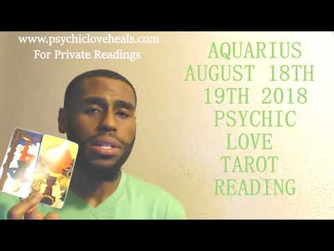 "AQUARIUS ""THEY MAY MISS OUT BECAUSE OF EXTREME ANGER"" LOVE TAROT AUG 18TH - 19TH 2018"