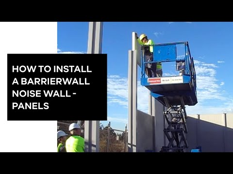 Modular Wall Systems - Barrier wall panel installation