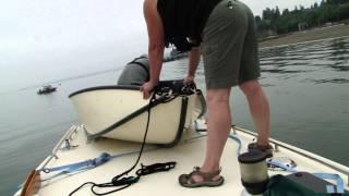 Aufbau von Porta-Bote an Deck
