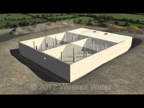A typical water storage tank construction