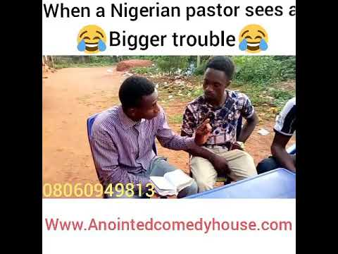When a pastor sees a bigger trouble😂😂