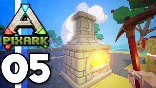 PixARK • THE CASTLE BEGINS! Copper Tools & DILO TAME! (Ep.05)