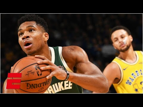 Giannis scores 24, Steph Curry leaves with injury in Bucks' rout of Warriors | NBA Highlights