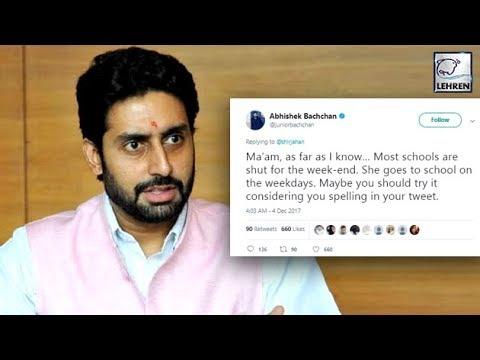 Abhishek Bachchan SLAMS A Troller For Abusing Aish