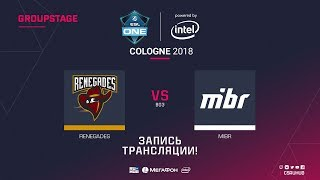 Renegades vs MIBR - ESL One Cologne 2018 - de_cache [ceh9, yXo]