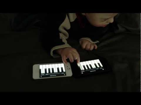 Watch video Down Syndrome 1 year old playing piano