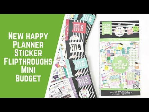 Happy quotes - Mini Budget- NEW HAPPY PLANNER STICKER FLIPTHROUGHS