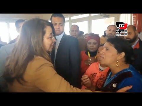 إحدى «النازحات» لوزيرة التضامن: مش عايزة أرجع العريش تاني
