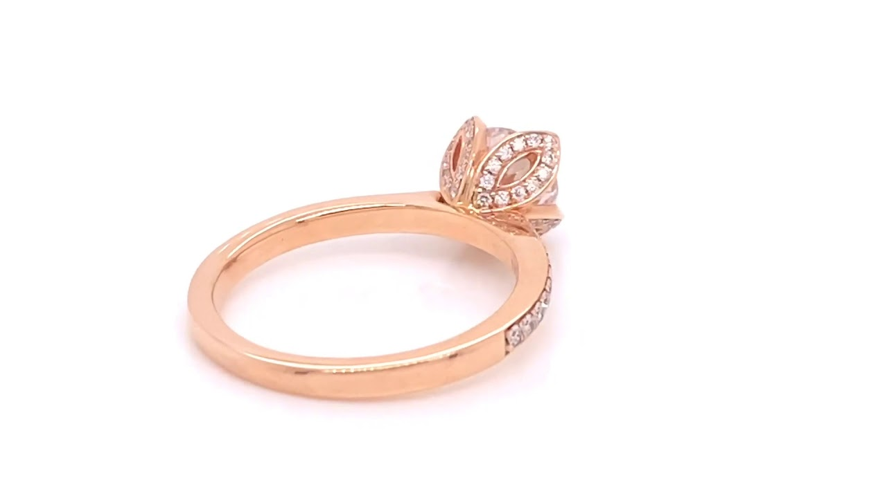 Floral Engagament Ring Setting